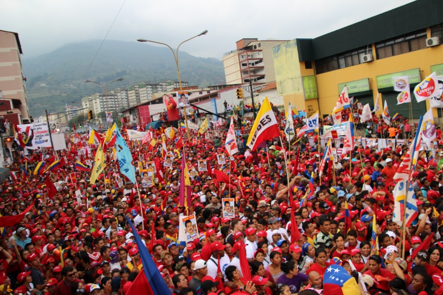 Hundreds of thousands of supporters of then presidential candidate Nicolas Maduro in Merida, April 2013.