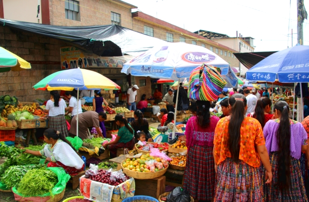 Market in the highland town of San Cristobal.