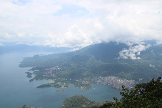 View of Santiago Atitlan from the San Pedro Volcano.