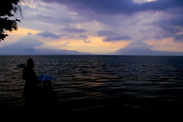 Sunset at Atitlan.