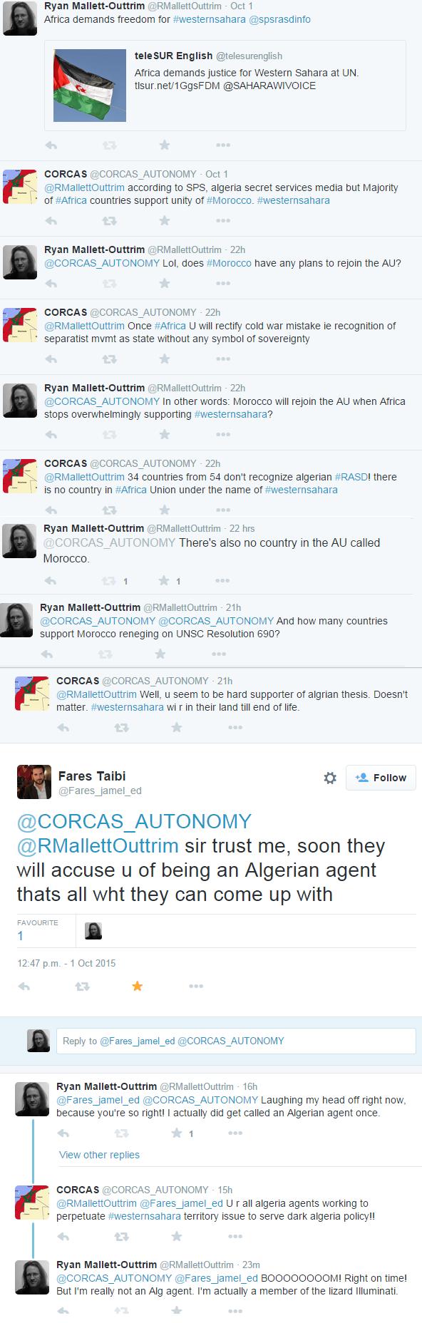 western sahara twitter rampage