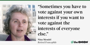 voting against own interests